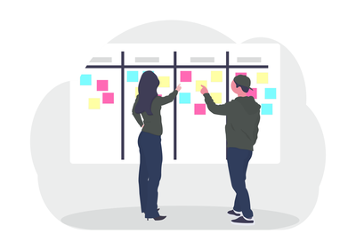 Scrum Board Illustration
